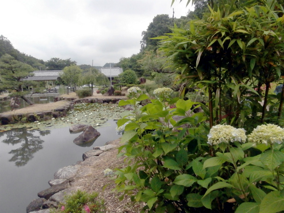 井原リフレッシュ公園の日本庭園