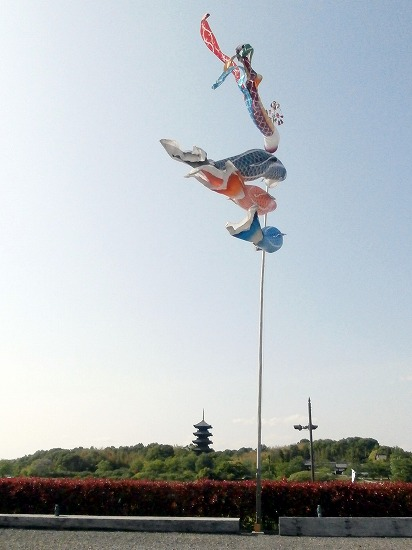 五重塔と鯉のぼり